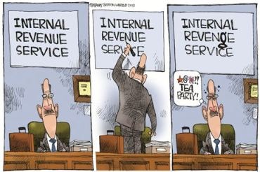 IRS Conservative Revenge Cartoon townhall
