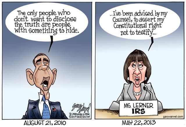 obama lois lerner fifth amendment