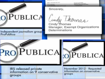 screenshot collage cindy thomas irs cincinnati connection.