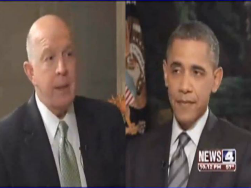 s blog screenshot of larry connors kmov and barack obama 2010 interview questioning obama s vacations connors was