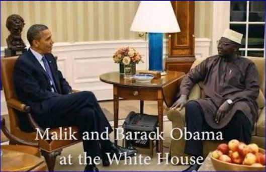 Malik and Barack Obama at the White House