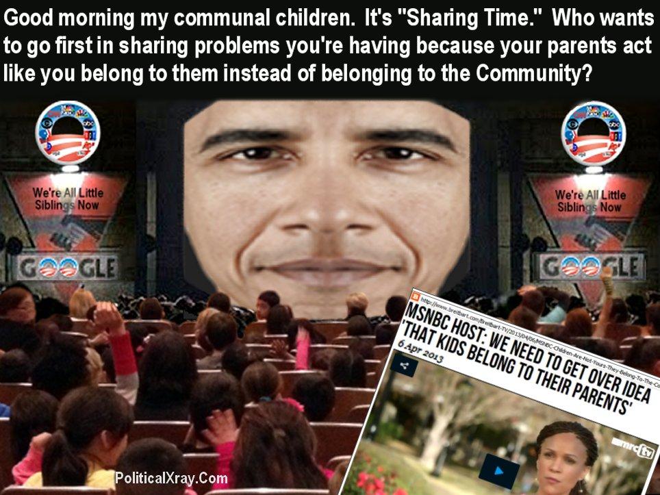 MSNBC Obama brainwash children