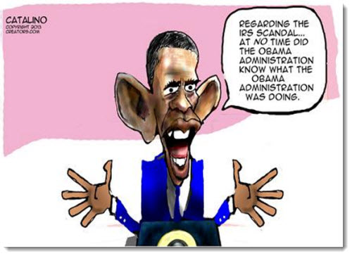 obama irs scandal administration political cartoon