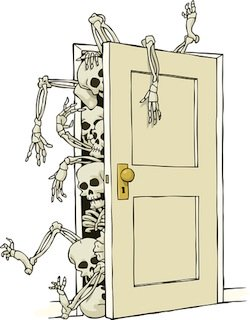skeletons falling out of the closet