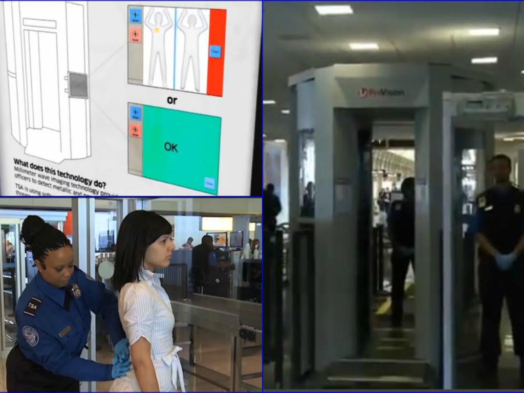 tsa advance imaging technology scanners screenshot collage