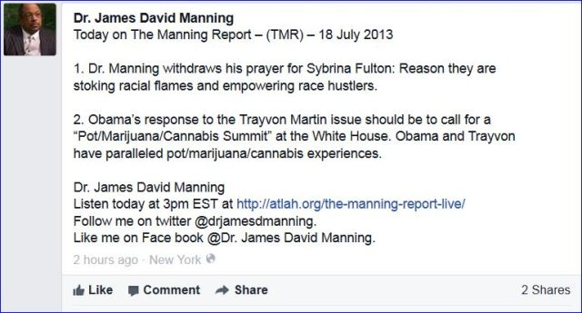 Dr Manning withdraws Prayers for Sybrina Fulton 001