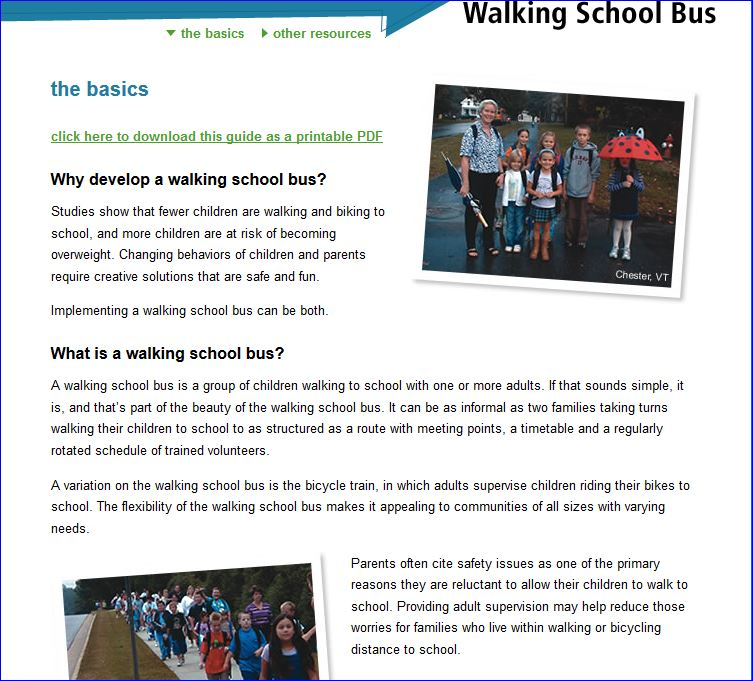 Michelle Obama Walking School Bus Agenda 001