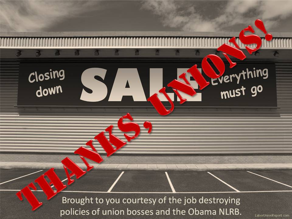 Closing down thanks unions
