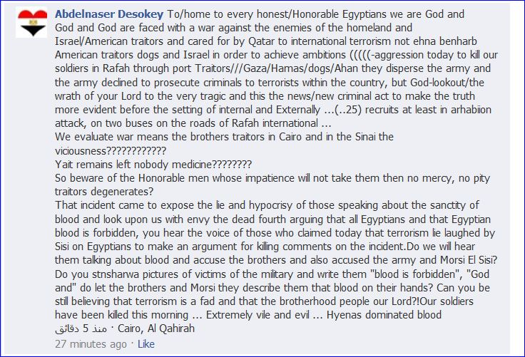 Egyptians protest on Obamas FB Page 006