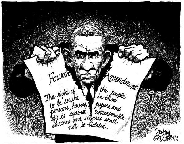 fourth amendment violation cartoon steve benson cagle cartoons