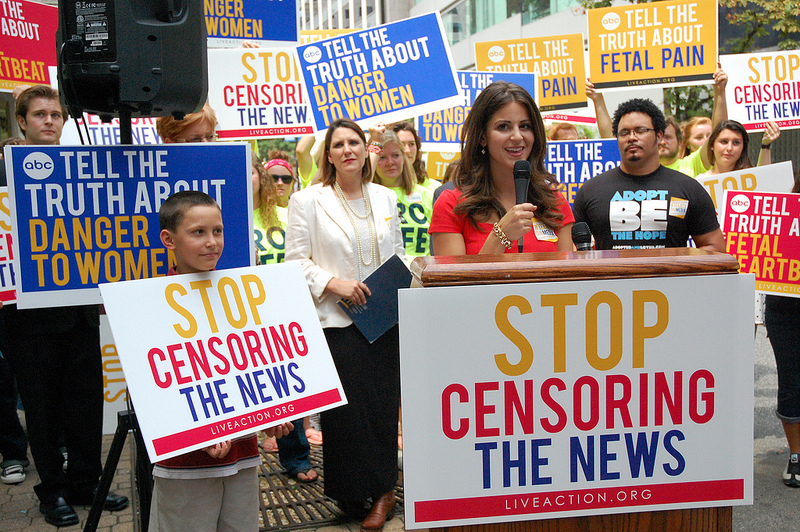 live action rally stop censoring the news 08082013.  Photograph by Monica Biggs.