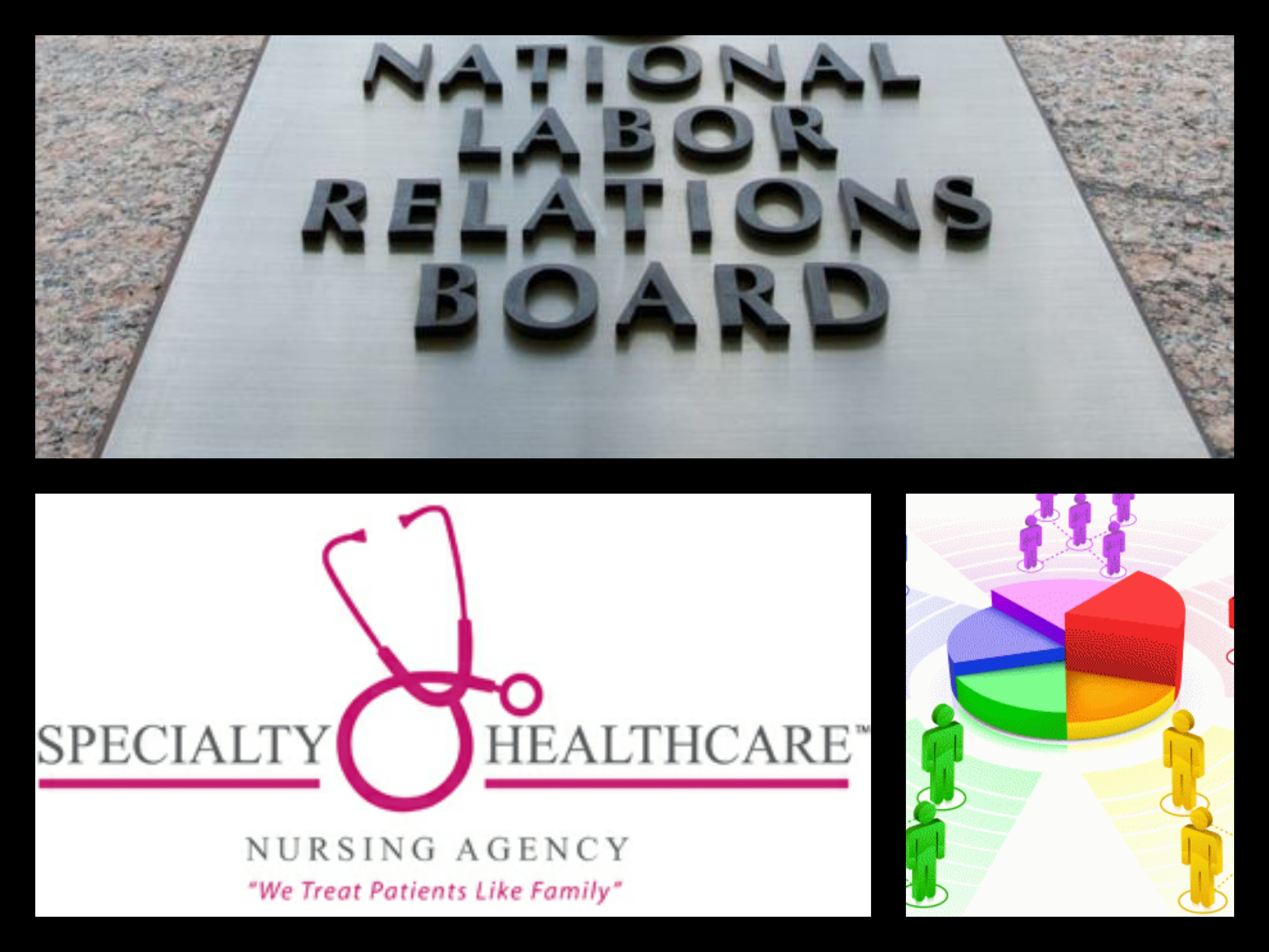 NLRB Specialty Healthcare Unios Organize Micro Bargaining Units Collage