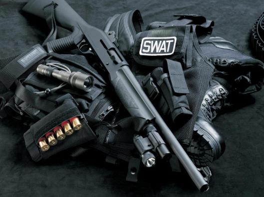 swat team equipment and weapons