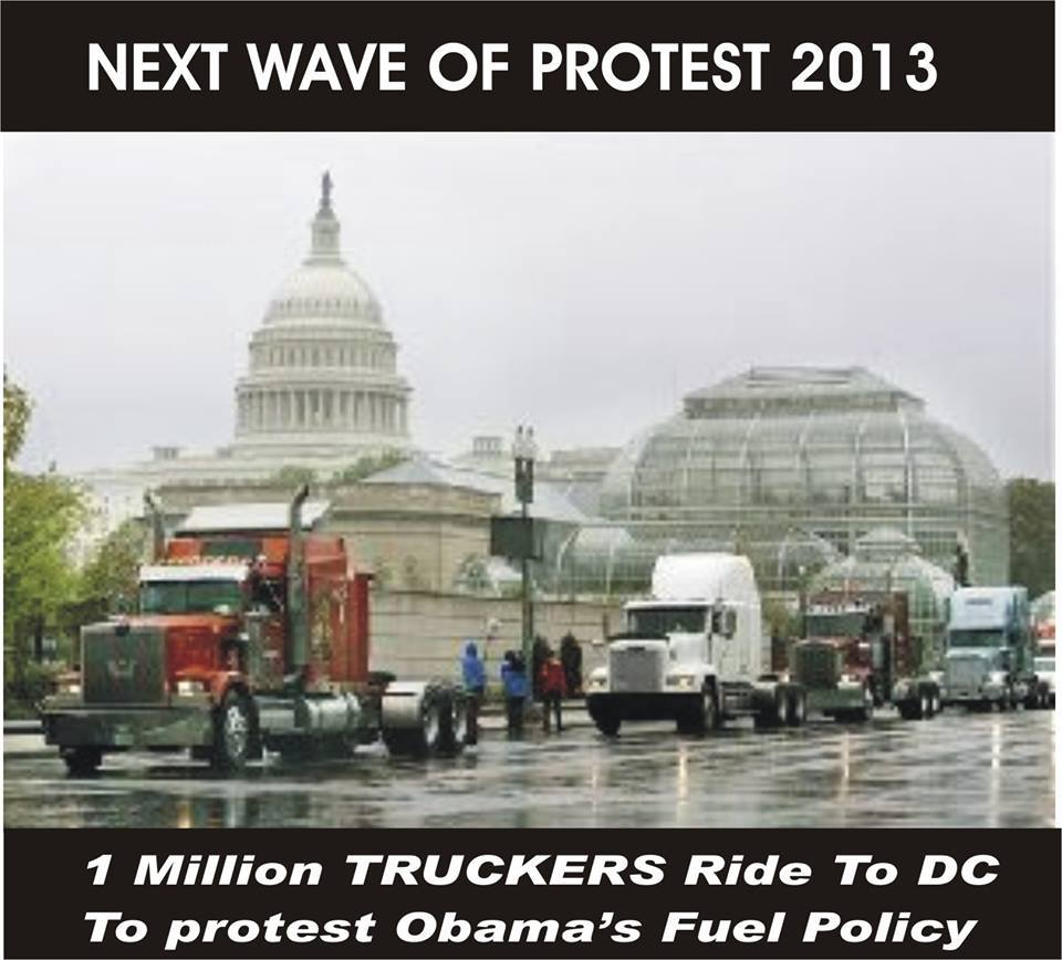 1 million truckers to do to protest Obama's fuel policy