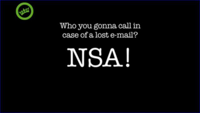 call NSA in case of lost email screenshot