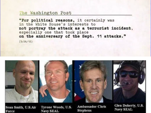 collage Obama cover up Benghazi four