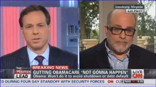 Mark Levin on Jake Tapper CNN re Obama Serial Liar Government Shutdown 09272013