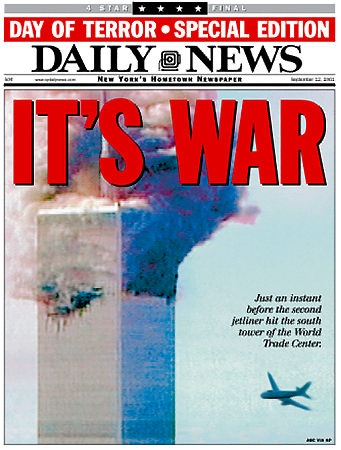 NYDN front page september 11 2001
