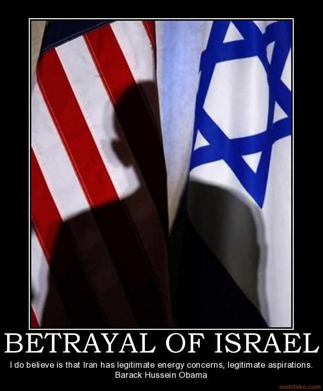 Obama betrayal of israel Motifake