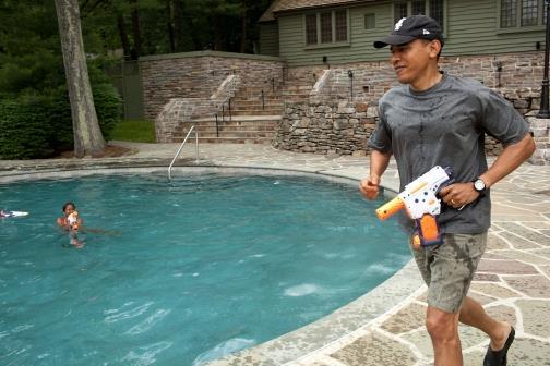 obama gun pool