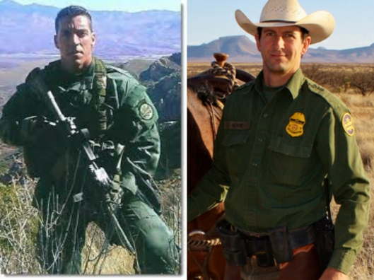 Border patrol agents Brian terry (left) and Nicholas Ivie (right) killed by drug traffickers in Arizona along US-Mexico border.