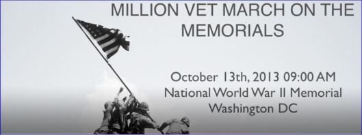 Million Vet March on the Memorials
