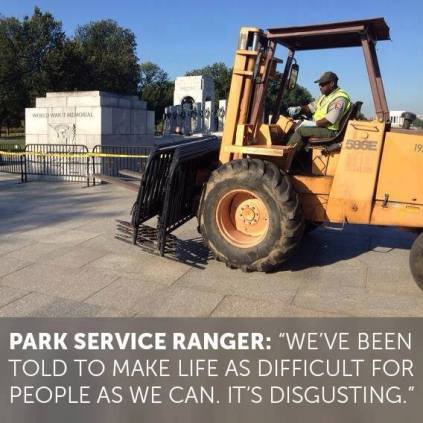 Park Service Ranger told to make life as difficut as they can quote