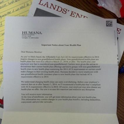 Humana Cancellation Letter