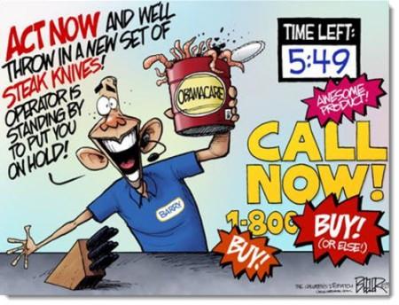 Obamacare infomercial cartoon Frugal Cafe