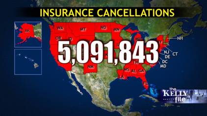 Obamacare insurance cancellations 11142013 - Image couortesy of Megyn Kelly/The Kelly File