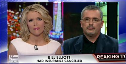 Stage 4 cancer victim Bill Elliot could not keep his healthcare plan now being audited by irs