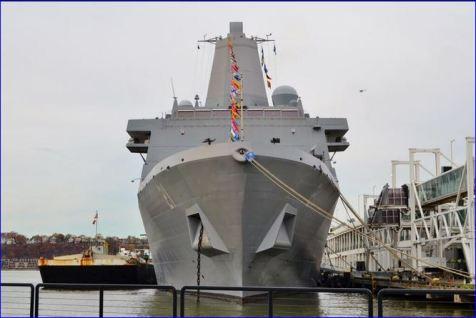USS docked at Pier 88 NYC Veterans Week