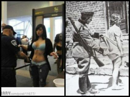 TSA Nazi History Police State Collage