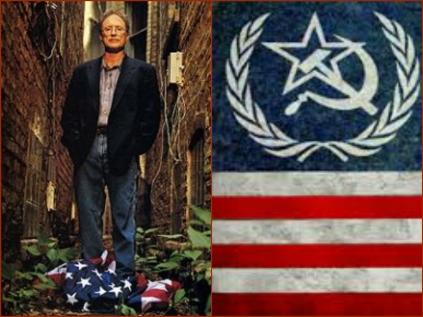Bill Ayers socialist american flag Collage