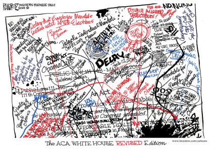 Obamacare Revised Michael Ramirez 02152014