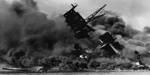 USS Arizona December 7 1941 Pearl Harbor. Image courtesy of Wikipedia.