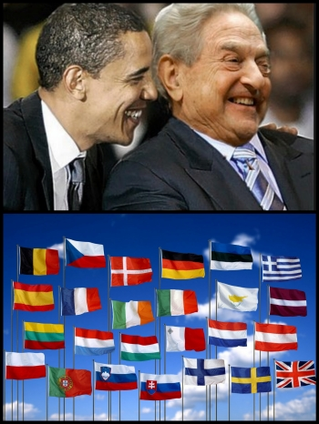 Barack Obama George Soros EU Collage