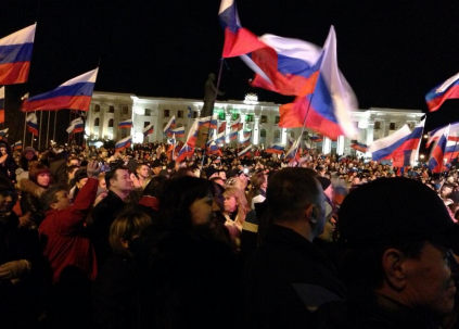 crimea referendum celebration 03162014