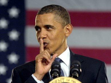 obama shhh