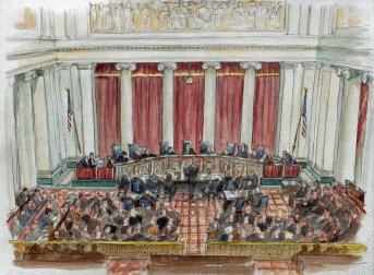 Supreme Court View - Image courtesy of Art Lien (SCOTUS Blog).