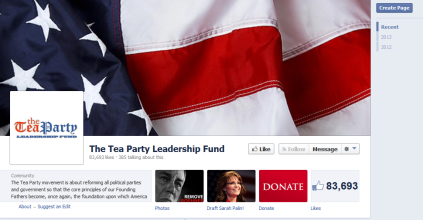 Screenshot The TeaParty.net Leadership Fund fake tea party site 970 x 505