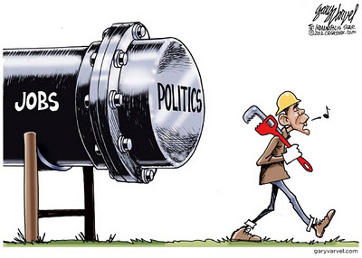 Cartoon -  Obama and Keystone - Gary Varvel