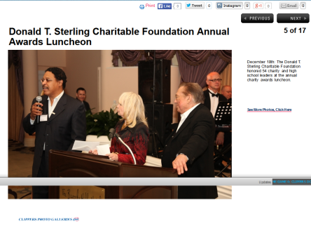 Leon Jenkins, NAACP - Donald Sterling Charitable Foundation Annual Awards Luncheon I THE OFFICIAL SITE OF THE LOS ANGELES CLIPPERS'  screenshot