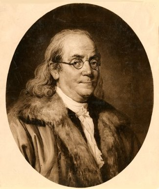 Portrait of Benjamin Franklin (1706-1790), circa 1780. Source University of Pennsylvania.