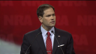 screens shot Florida Senator Marco Rubio - NRA annual meeting 2014