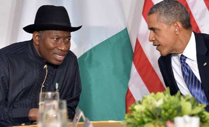 Goodluck Jonathan, Nigerian president and Barack Obama
