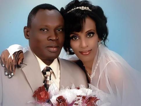 Daniel Wani with his wife Meriam Yehya Ibrahim, 27 Facebook