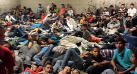 children flooding the border into usa Brownsville texas