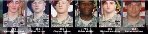 real heroes who died looking for bowe bergdahl
