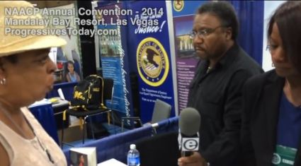 screenshot deneen borelli, cl bryant under assault by ignorant black woman at naacp convention